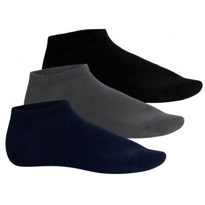kotníkové ponožky BAMBUS (3 páry)