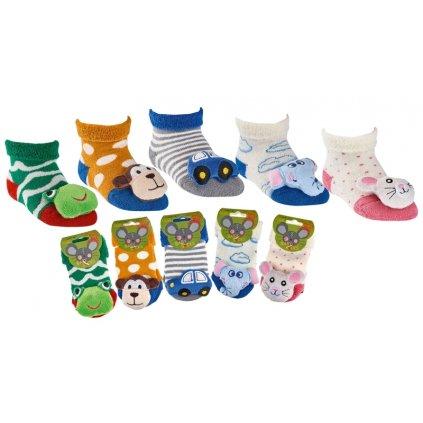 detske ponozky s chrastitkem (5 barev)